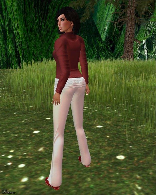 !Rebel Hope - Jaylin Mesh Sweatshirt Varsity red and Yoga Mesh Pants Varsity white