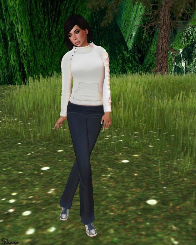 !Rebel Hope - Jaylin Mesh Sweatshirt white and Yoga Mesh Pants navy