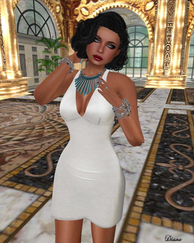 !Rebel Hope - Missy Mesh Dress White