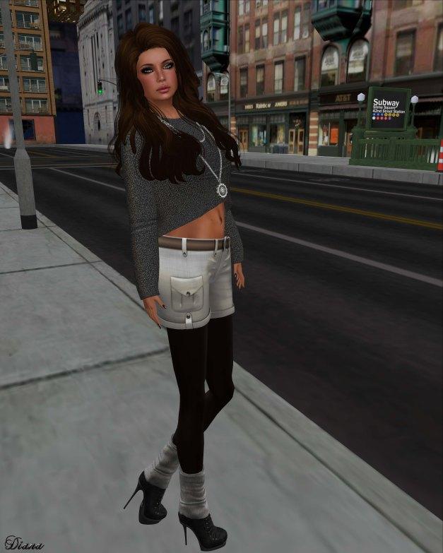 !Rebel Hope - Penny Mesh Oversized Sweater Slate