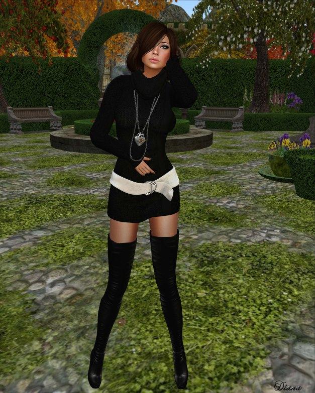 Sakide -  Soft Sweater Dress black