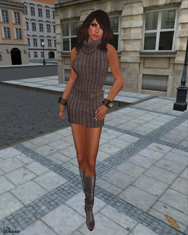 Urban Cherry - Chunky Knit Sleeveless Dress 1