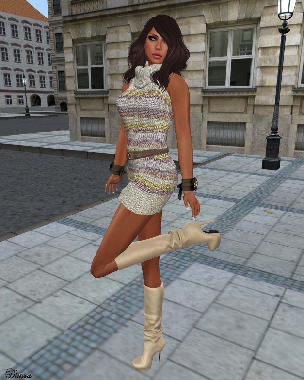 Urban Cherry - Chunky Knit Sleeveless Dress 12