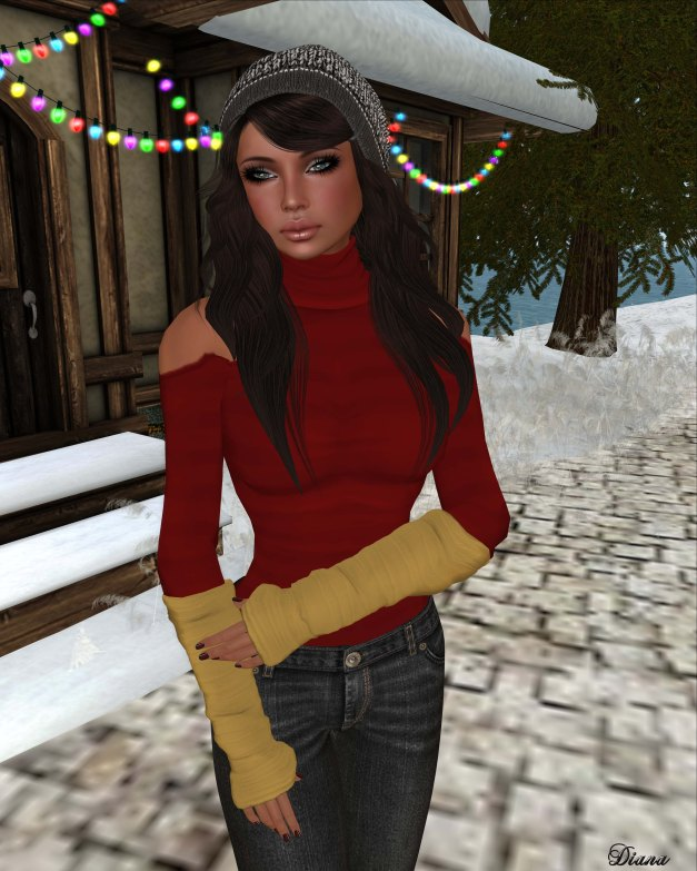 DCNY - Open Shoulder Dress & Crop Top and Armwarmers-2