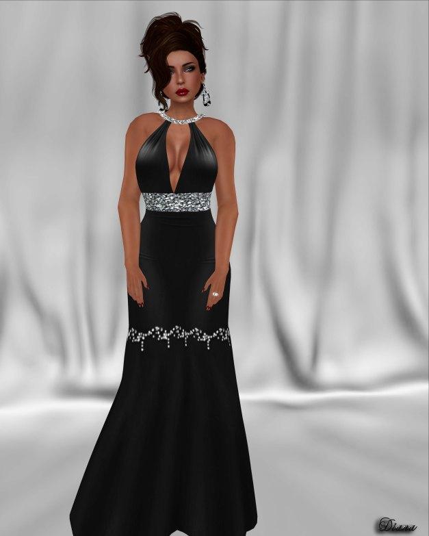 !Rebel Hope - Alisha Mesh Formal Gown Black
