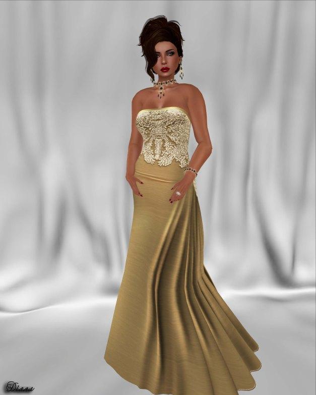 !Rebel Hope - Demi Mesh Formal Gown Gold