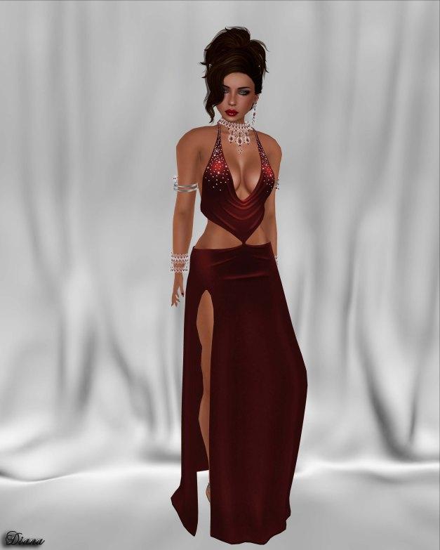 !Rebel Hope - Lola Mesh Dress Red