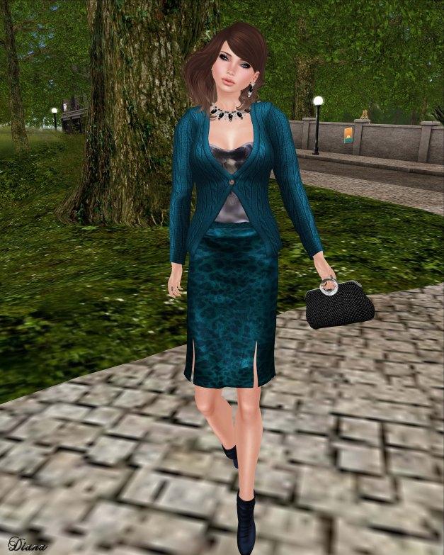 Baiastice - Shae cardigan and Shyla skirt azure