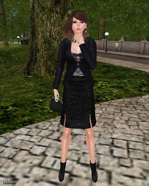 Baiastice - Shae cardigan and Shyla skirt black