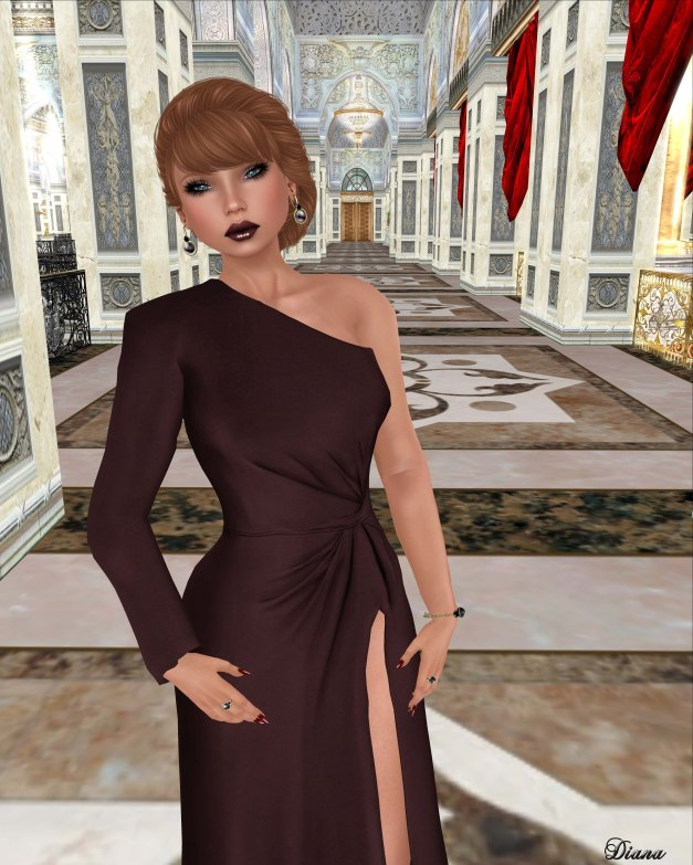 ColorMeHOF - Victoria Dress (Oxblood)-2