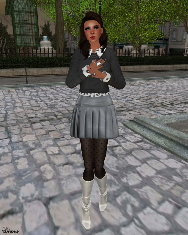 Cracked Mirror - Apprentice Sweater and Pleated Skirt