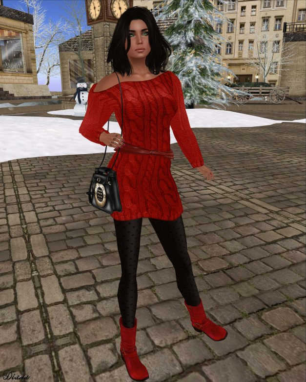 Lurve - Sweater Mini Outfit Red