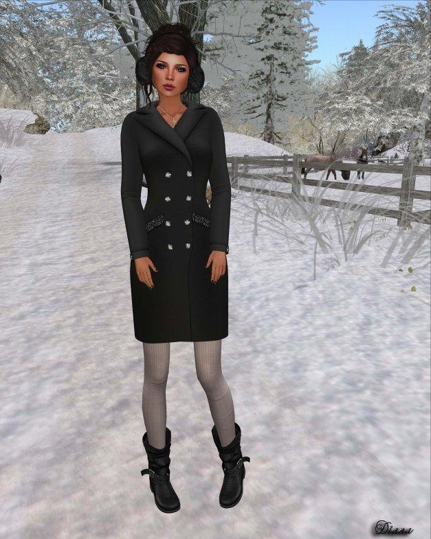 !Rebel Hope - Jackie Mesh Coat Dress black