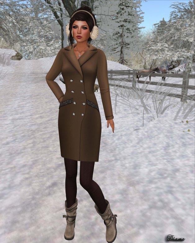 !Rebel Hope - Jackie Mesh Coat Dress Caramel