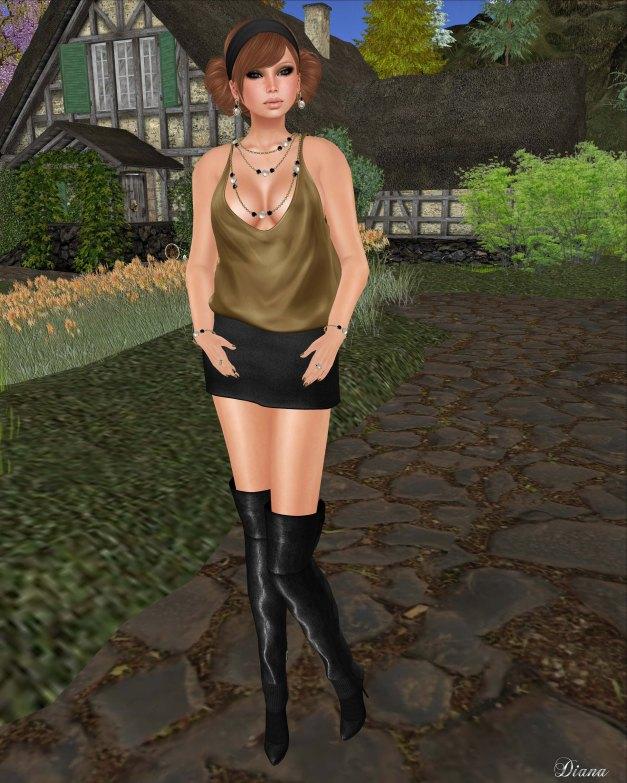 Teefy Ana Slouchy Satin Tank and Boom Tweed Mini-1