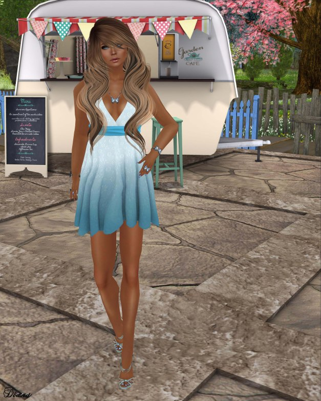 DCNY - Spring Sash Dress Blue