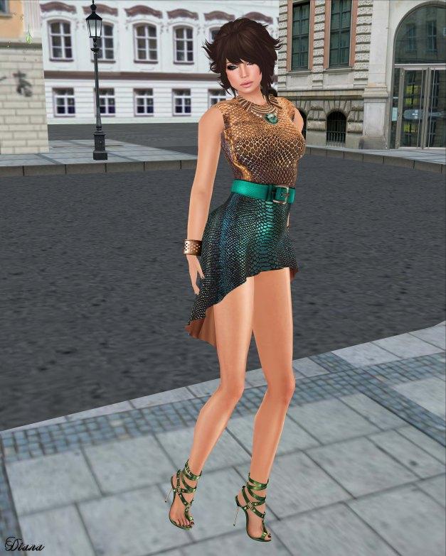 GizzA - Belted Dress Snake Soil