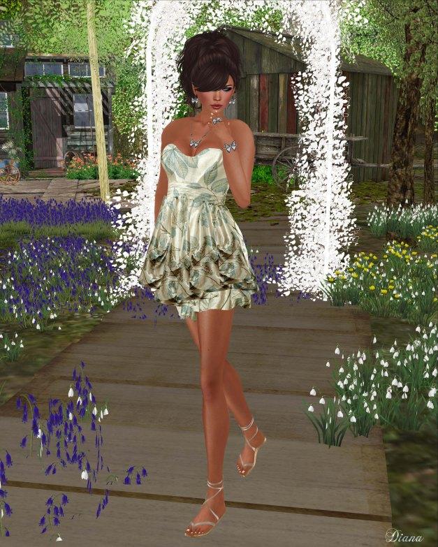 Hudsons Clothing - Spring Mist Satin Dress
