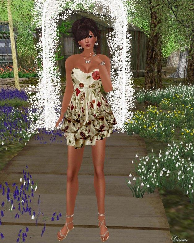Hudsons Clothing - Summer Floral Satin Dress