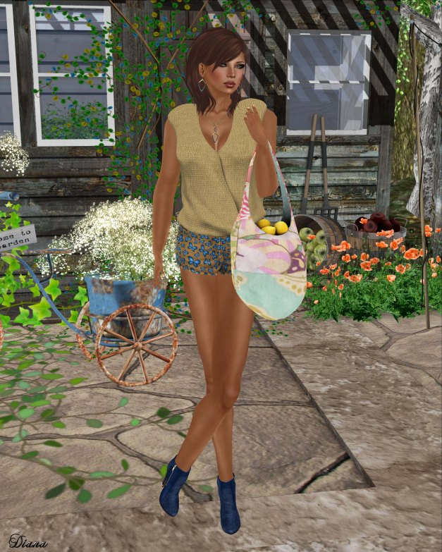 TuttiFrutti - Emma Mesh Blouse and Play Mesh Shorts-1