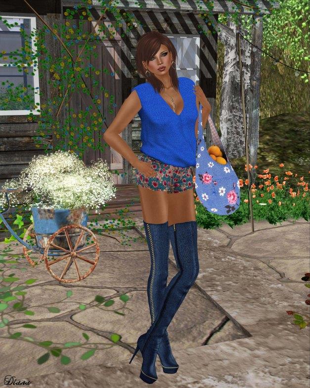 TuttiFrutti - Emma Mesh Blouse and Play Mesh Shorts-2