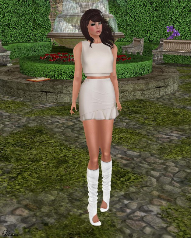 Color.Me.H.O.F - Mesh Spring Crop and Ruffle Skirt-1