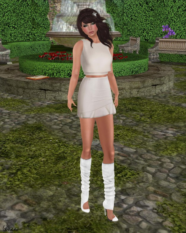 Color.Me.H.O.F - Mesh Spring Crop and Ruffle Skirt-2
