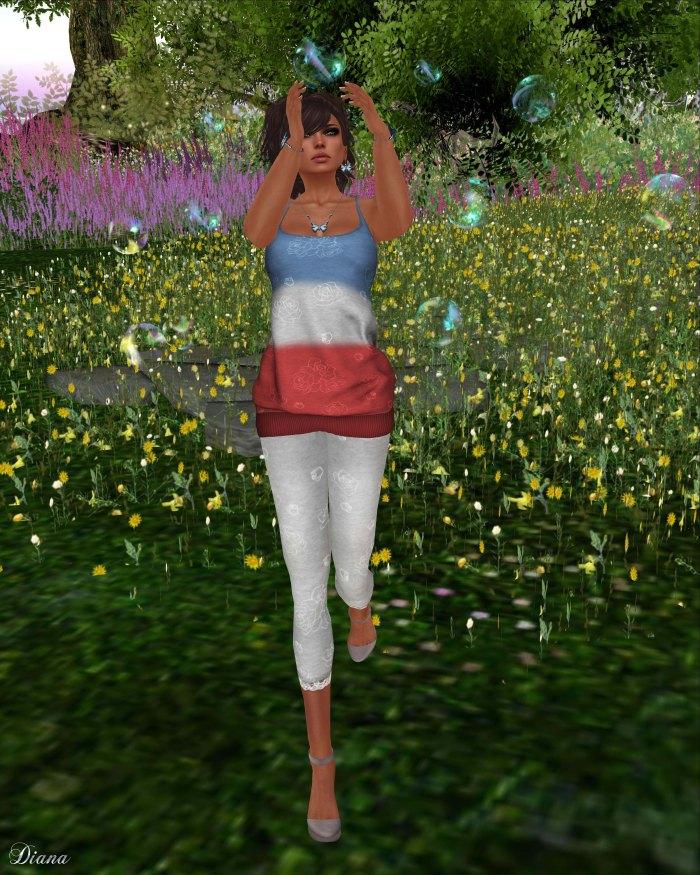 girl thursday - double dip tankdress and rose leggings-2