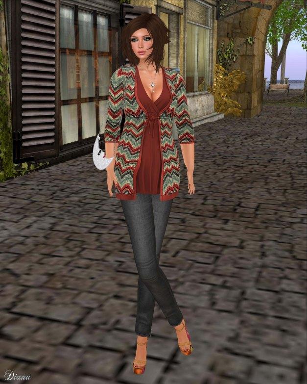 GizzA - Shirley Cardigan Dress Hippie
