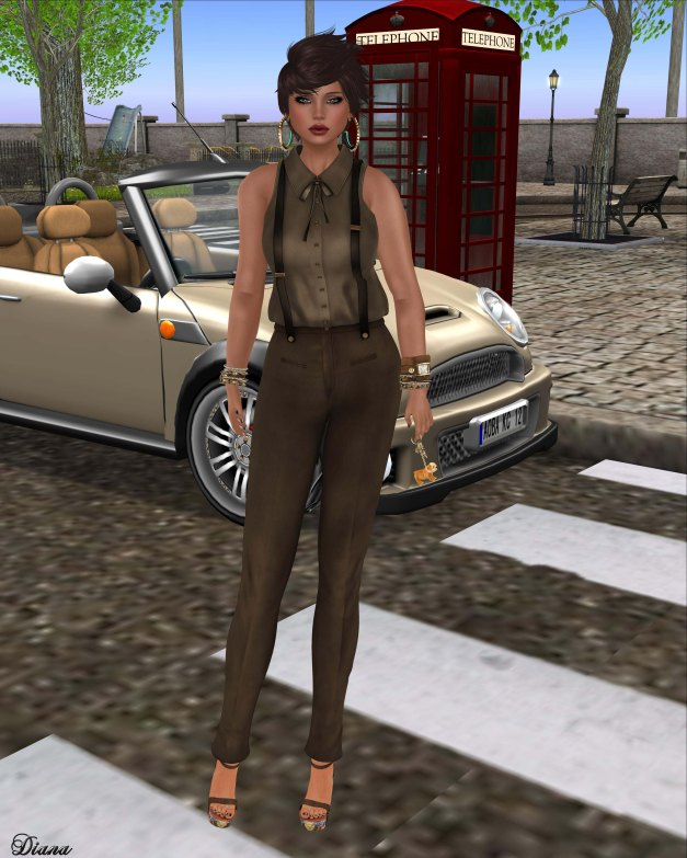 GizzA - Suspenders Outfit Earth