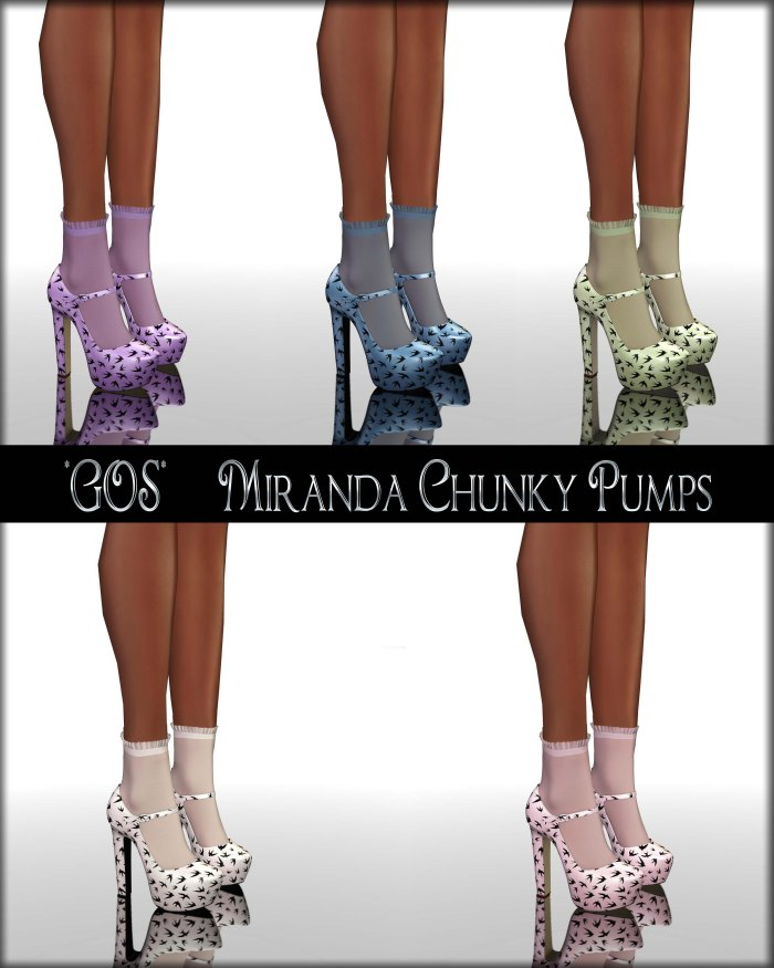 Gos - Miranda Chunky Pumps - Swallows Collection
