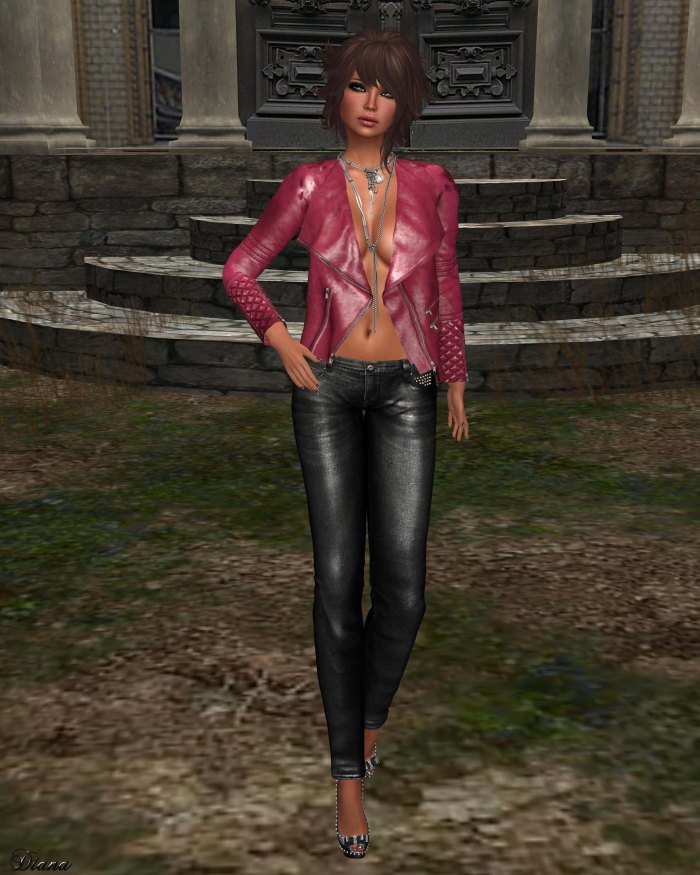 Ricielli - Leather Jacket and Spiked Jeans