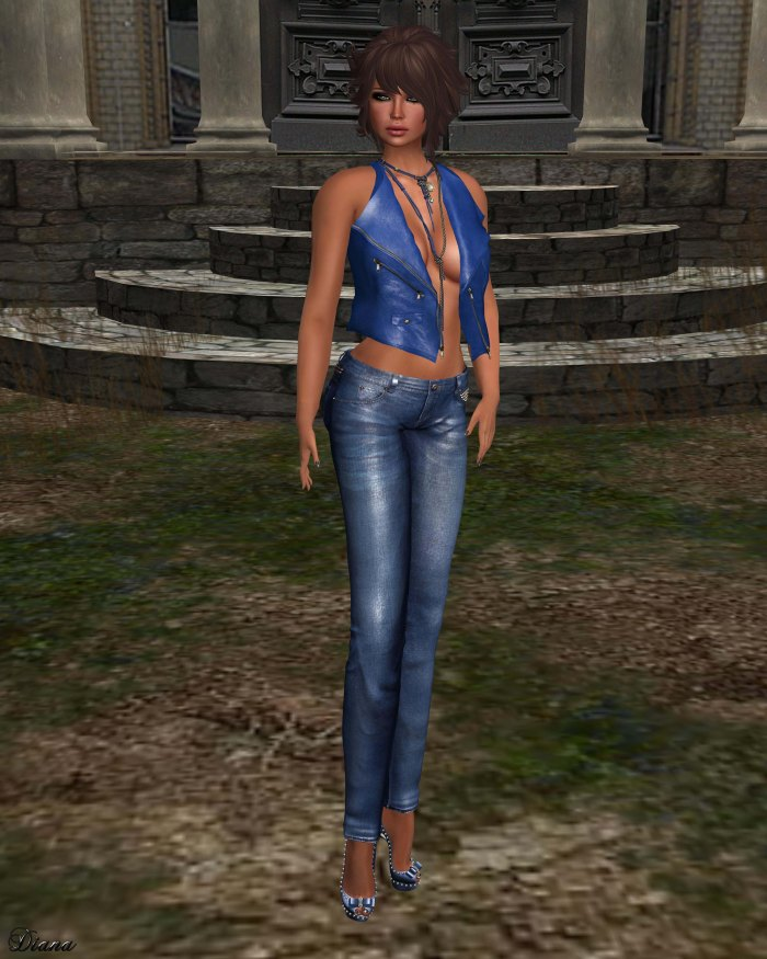 Ricielli - Leather Vest and Spiked Jeans