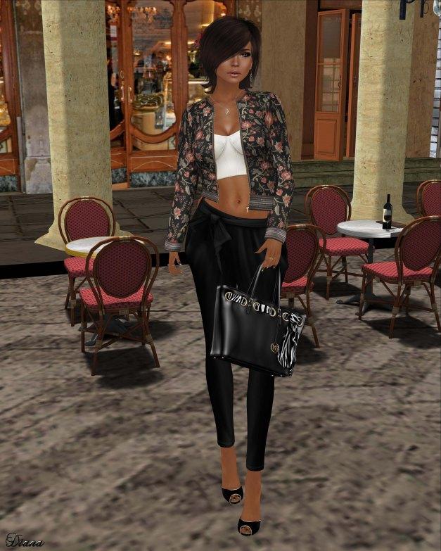 Zaara - Natasha bustier,Sana chintz jacket and Mita tie-up pants