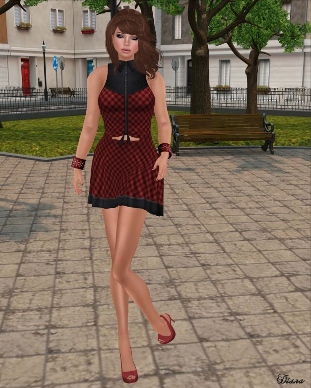 DCNY - Dillydally Dress Red Gingham