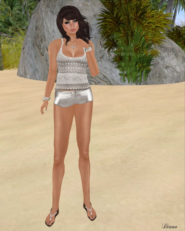 Mimikri - Mischa Tank Top and Hot Pants beige