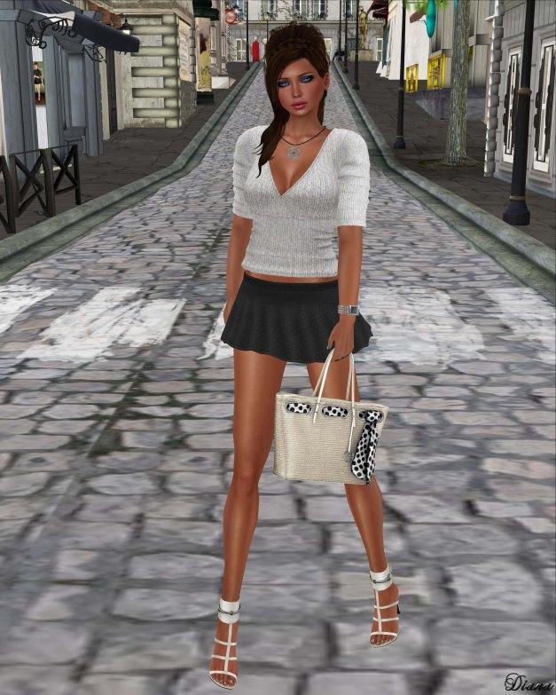 !Rebel Hope - Pippa Mesh Sweater White and Nadia Mesh Skirt Black