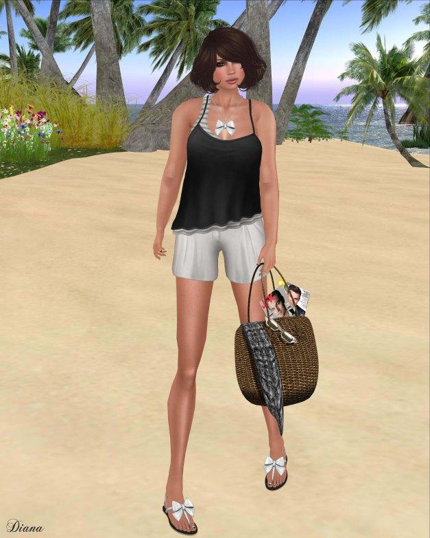 Zaara - Kalika tank top and Elina shorts