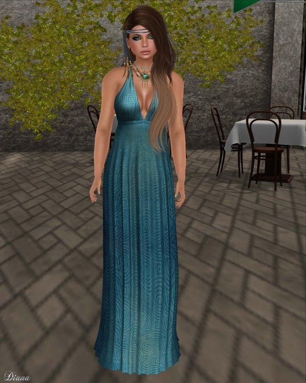 Baiastice - Bali Maxi Dress-grunge blue