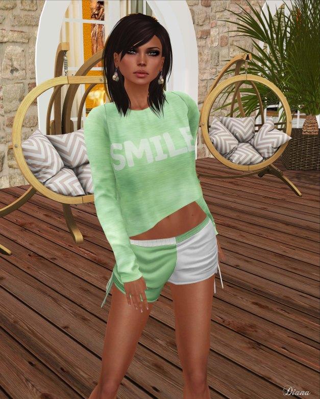 coldLogic - shirt smile-shorts smythe