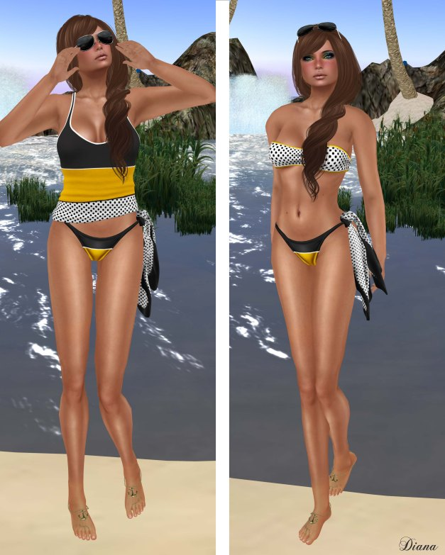 GizzA - Nautical Bikini Dotty and Knotted Scarf Dotty