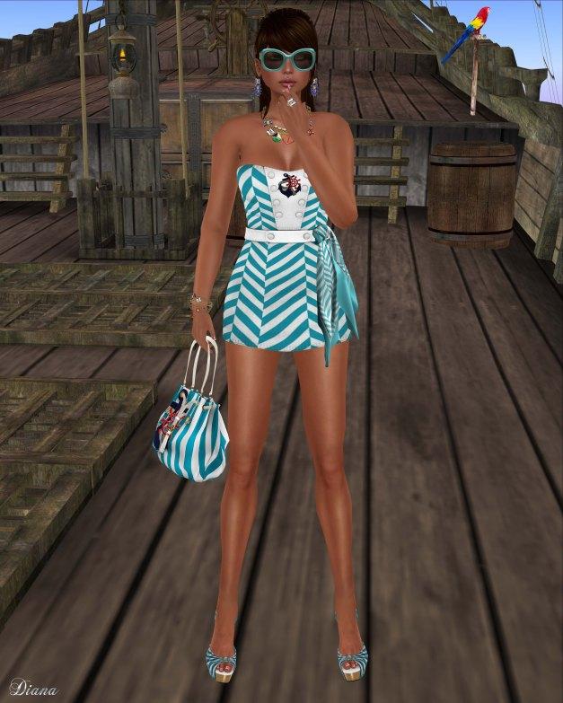 GizzA - Sailing Dress Crosswise