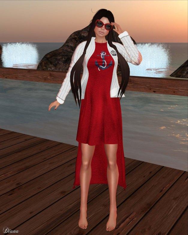 GizzA - Yachting Cardigan & Cotton Dress-2