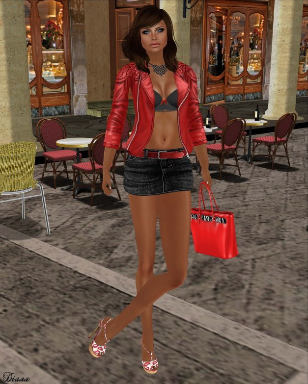 Liv Glam - Barracuda , Eudora 3D - Denim Skirt , YS&YS - Paris Shoes
