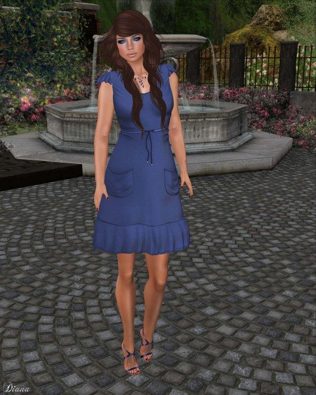 !Rebel Hope - Janet Mesh Dress Cornflower Blue