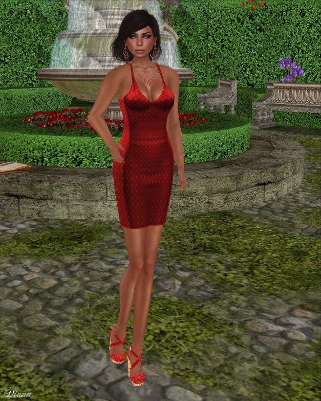 !Rebel Hope - Savanah Mesh Dress Red