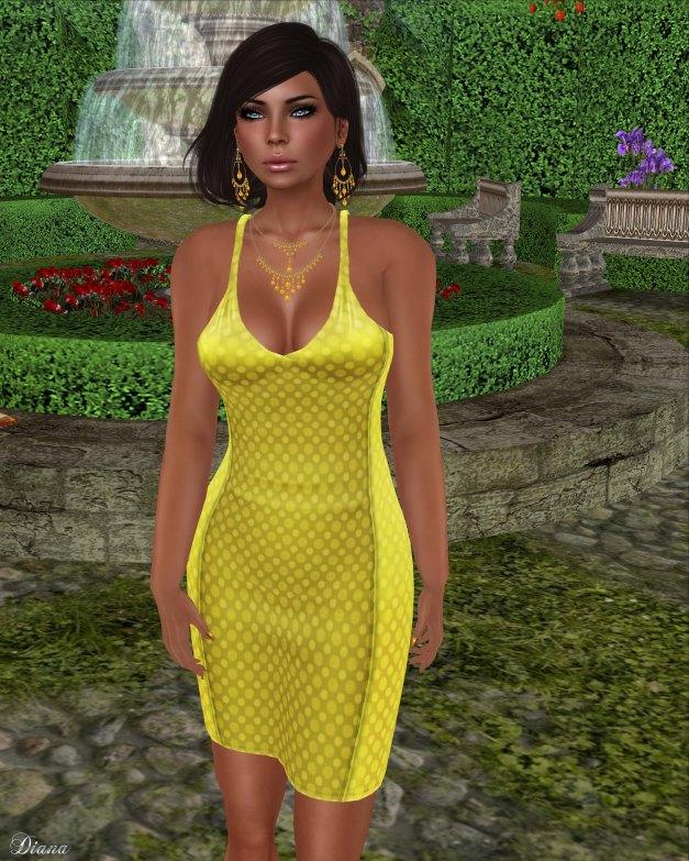 !Rebel Hope - Savanah Mesh Dress Yellow