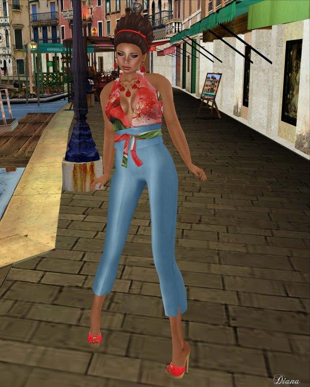 Baiastice - Felicia outfit-redcobalt