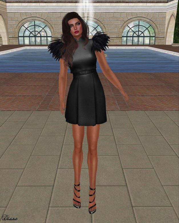 Baiastice - Jitka Top and Skirt black