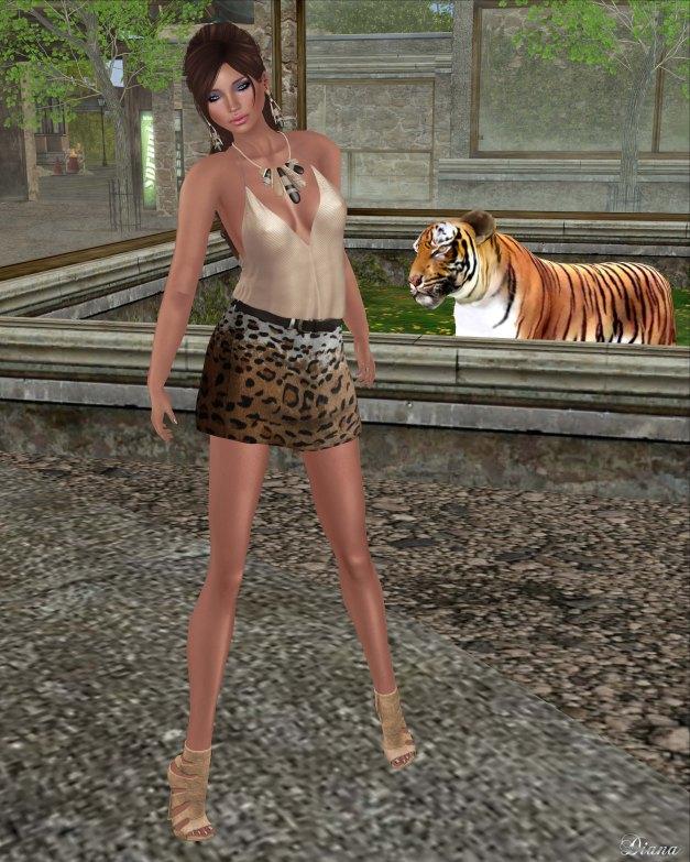 Baiastice - Kafue Top blush and Skirt leopard